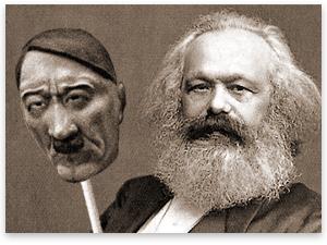 Karl-Marx-Vestindo-a-Mascara-de-Hitler-Portal-Conservador